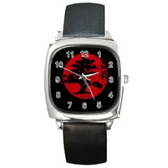 Bonsai Square Metal Watch