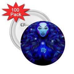 Sign Virgo Zodiac 2.25  Buttons (100 pack)