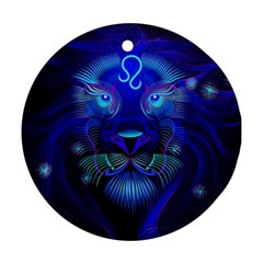 Sign Leo Zodiac Round Ornament (Two Sides)