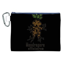 Mandrake plant Canvas Cosmetic Bag (XXL)
