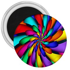 Star Flower Color Rainbow 3  Magnets