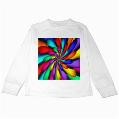 Star Flower Color Rainbow Kids Long Sleeve T-Shirts