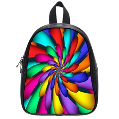 Star Flower Color Rainbow School Bags (Small)