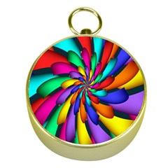 Star Flower Color Rainbow Gold Compasses