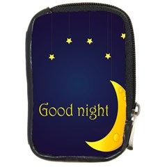 Star Moon Good Night Blue Sky Yellow Light Compact Camera Cases