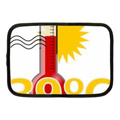 Thermometer Themperature Hot Sun Netbook Case (Medium)