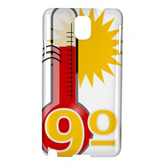 Thermometer Themperature Hot Sun Samsung Galaxy Note 3 N9005 Hardshell Case