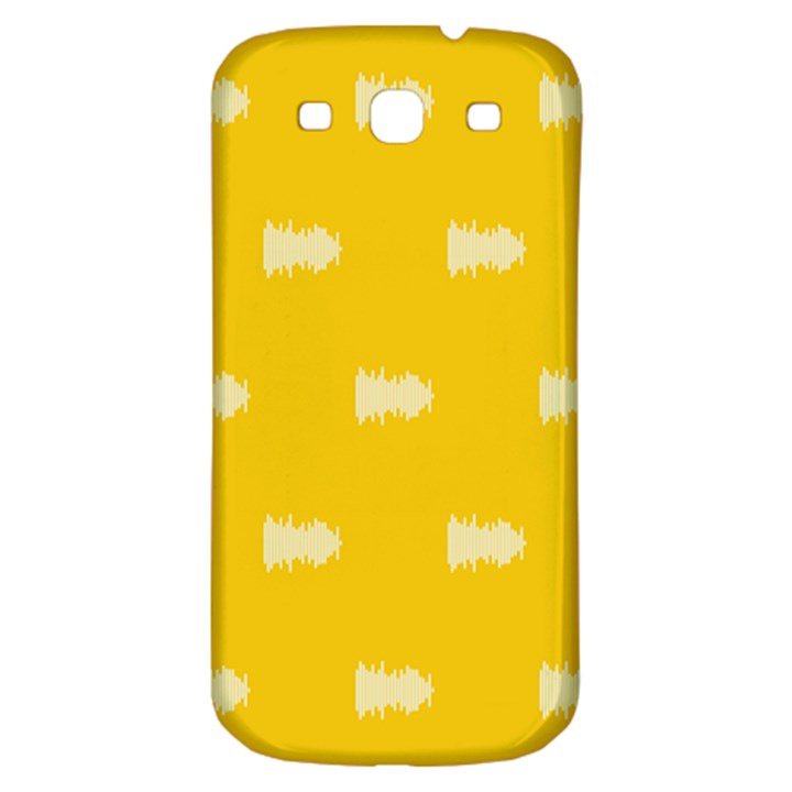 Waveform Disco Wahlin Retina White Yellow Samsung Galaxy S3 S III Classic Hardshell Back Case