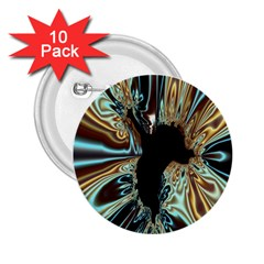 Silver Gold Hole Black Space 2.25  Buttons (10 pack)