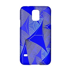 Wave Chevron Plaid Circle Polka Line Light Blue Triangle Samsung Galaxy S5 Hardshell Case