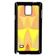 Wave Chevron Plaid Circle Polka Line Light Yellow Red Blue Triangle Samsung Galaxy Note 4 Case (Black)