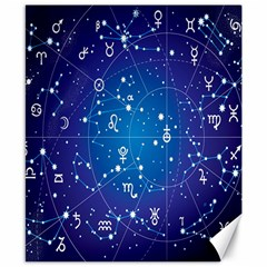 Astrology Illness Prediction Zodiac Star Canvas 8  x 10
