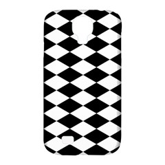 Diamond Black White Plaid Chevron Samsung Galaxy S4 Classic Hardshell Case (pc+silicone)
