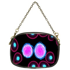 Cell Egg Circle Round Polka Red Purple Blue Light Black Chain Purses (Two Sides)