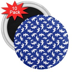 Birds Silhouette Pattern 3  Magnets (10 Pack)