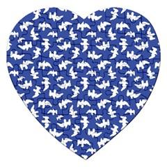 Birds Silhouette Pattern Jigsaw Puzzle (heart)