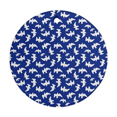 Birds Silhouette Pattern Round Ornament (two Sides)