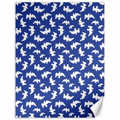 Birds Silhouette Pattern Canvas 12  X 16