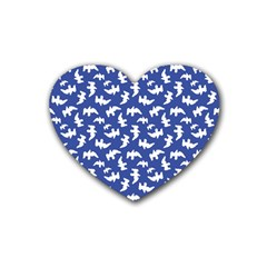 Birds Silhouette Pattern Rubber Coaster (heart)