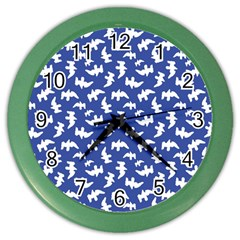 Birds Silhouette Pattern Color Wall Clocks