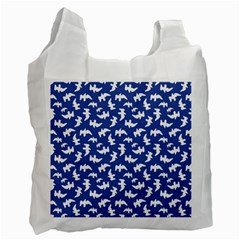 Birds Silhouette Pattern Recycle Bag (two Side)