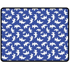 Birds Silhouette Pattern Fleece Blanket (medium)