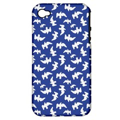 Birds Silhouette Pattern Apple Iphone 4/4s Hardshell Case (pc+silicone)