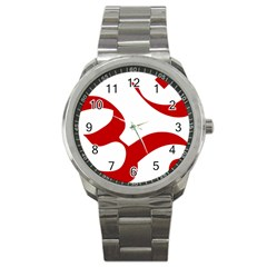 Hindu Om Symbol (Red) Sport Metal Watch