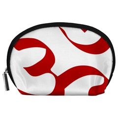 Hindu Om Symbol (Red) Accessory Pouches (Large)