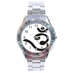 Bengali Om Symbol Stainless Steel Analogue Watch