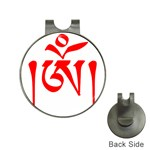 Tibetan Om Symbol (Red) Hat Clips with Golf Markers Front