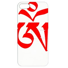 Tibetan Om Symbol (Red) Apple iPhone 5 Hardshell Case with Stand