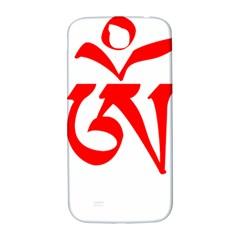 Tibetan Om Symbol (Red) Samsung Galaxy S4 I9500/I9505  Hardshell Back Case