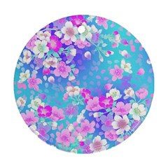 Flowers Cute Pattern Ornament (round)