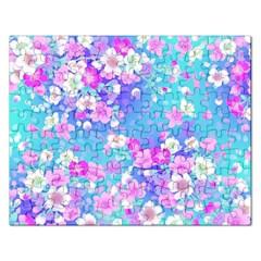 Flowers Cute Pattern Rectangular Jigsaw Puzzl
