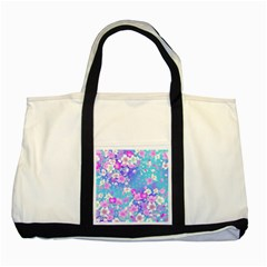 Flowers Cute Pattern Two Tone Tote Bag