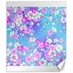 Flowers Cute Pattern Canvas 20  X 24