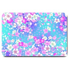 Flowers Cute Pattern Large Doormat