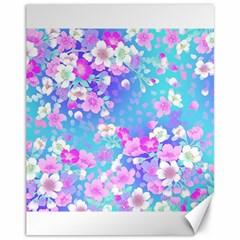 Flowers Cute Pattern Canvas 11  x 14