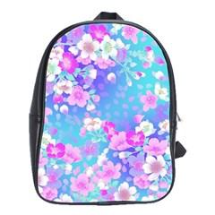 Flowers Cute Pattern School Bags(large)