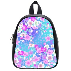 Flowers Cute Pattern School Bags (Small)