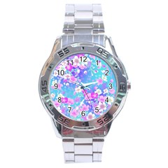 Flowers Cute Pattern Stainless Steel Analogue Watch