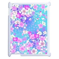 Flowers Cute Pattern Apple Ipad 2 Case (white)