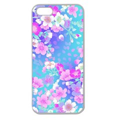 Flowers Cute Pattern Apple Seamless Iphone 5 Case (clear)