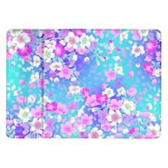 Flowers Cute Pattern Samsung Galaxy Tab 10 1  P7500 Flip Case