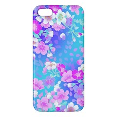 Flowers Cute Pattern iPhone 5S/ SE Premium Hardshell Case