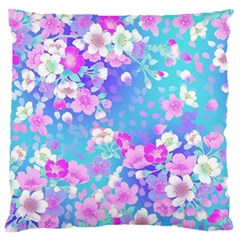 Flowers Cute Pattern Standard Flano Cushion Case (Two Sides)