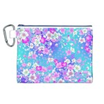 Flowers Cute Pattern Canvas Cosmetic Bag (L) Front