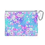 Flowers Cute Pattern Canvas Cosmetic Bag (L) Back