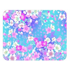 Flowers Cute Pattern Double Sided Flano Blanket (Large)
